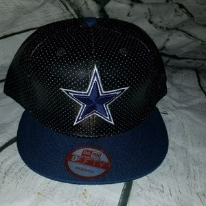 dallas cowboys leather cap